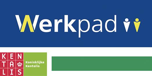 verzameling logo's Werkpad, Kentalis en Bartimeus